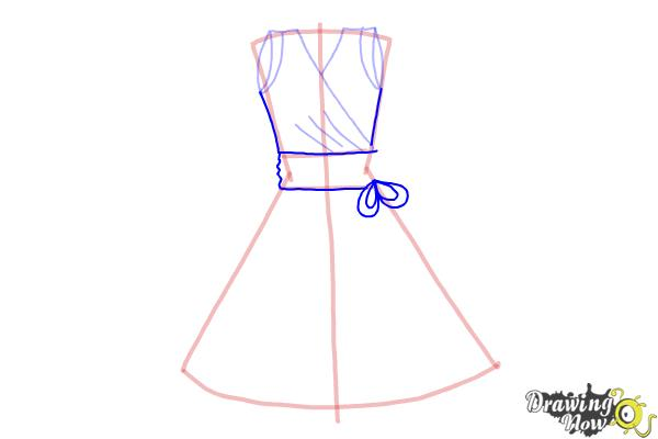 How to Draw a Dress Step by Step - Step 6