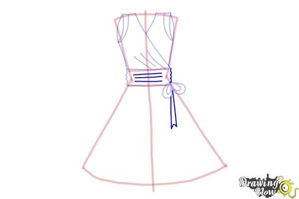 How to Draw a Dress Step by Step - Step 7
