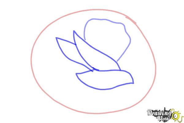 How to Draw a Rose In Pencil - Step 2