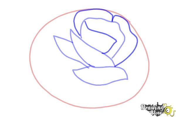 How to Draw a Rose In Pencil - Step 3