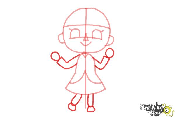 How to Draw a Girl from Animal Crossing - Step 5