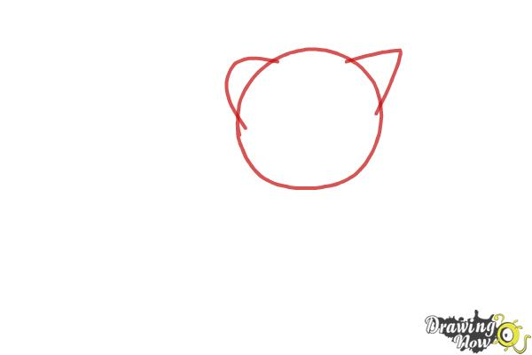How to Draw a Kitten Step by Step - Step 1