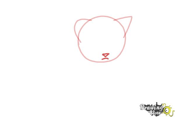 How to Draw a Kitten Step by Step - Step 2