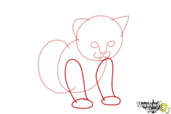How to Draw a Kitten Step by Step - Step 5