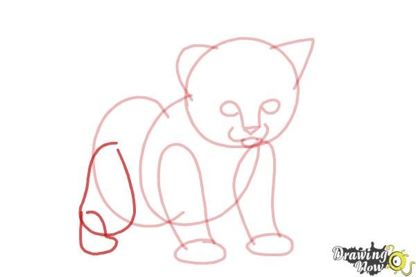 How to Draw a Kitten Step by Step - Step 6