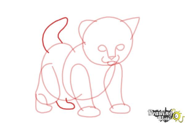 How to Draw a Kitten Step by Step - Step 7