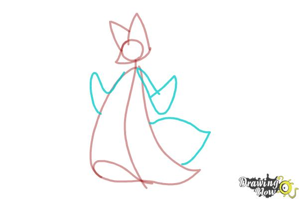 How to Draw Delphox from Pokemon - Step 3