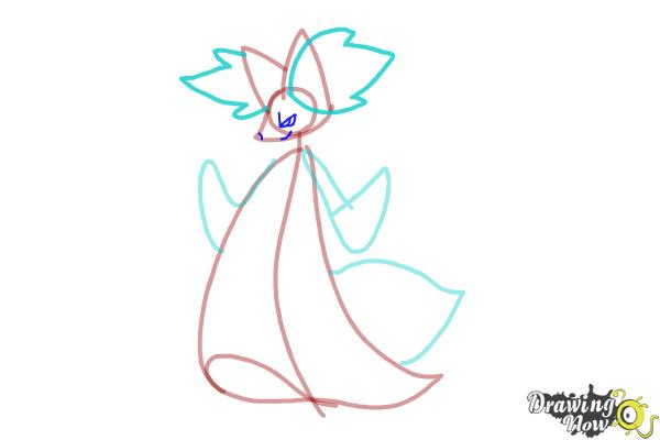 How to Draw Delphox from Pokemon - Step 4