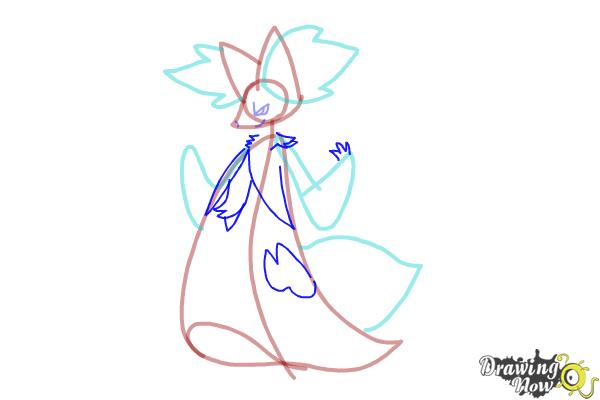 How to Draw Delphox from Pokemon - Step 5