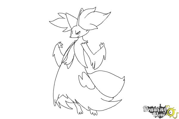How to Draw Delphox from Pokemon - Step 6