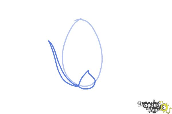 How to Draw a Rose Bud - Step 2