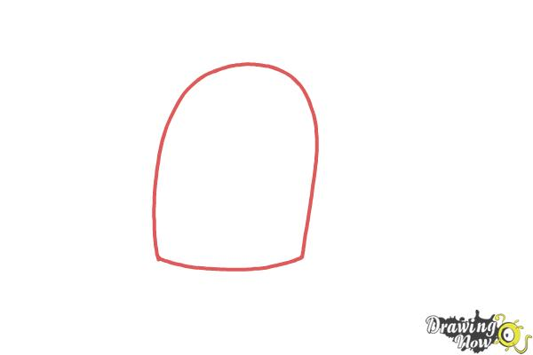 How to Draw Tiffi from Candy Crush - Step 1