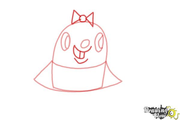 How to Draw Tiffi from Candy Crush - Step 4