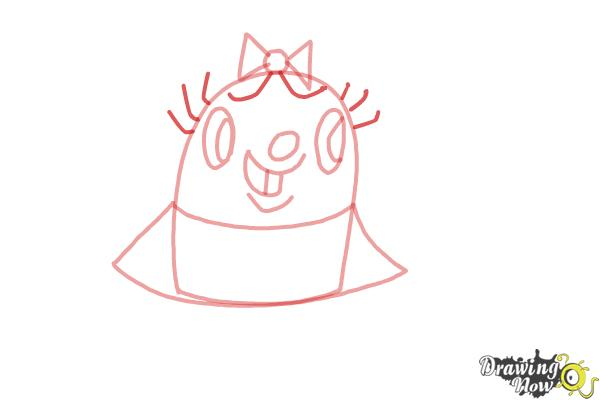 How to Draw Tiffi from Candy Crush - Step 5