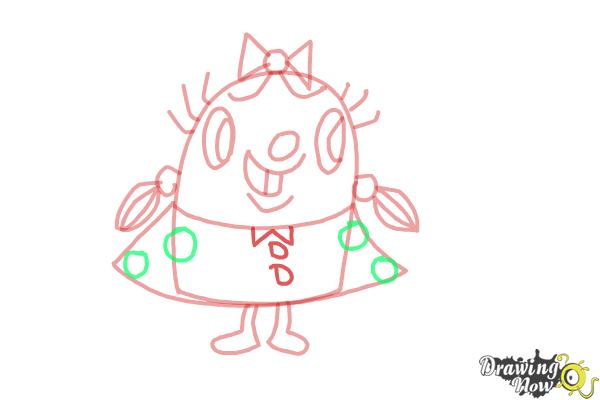 How to Draw Tiffi from Candy Crush - Step 8