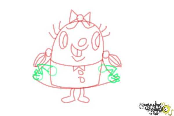 How to Draw Tiffi from Candy Crush - Step 9