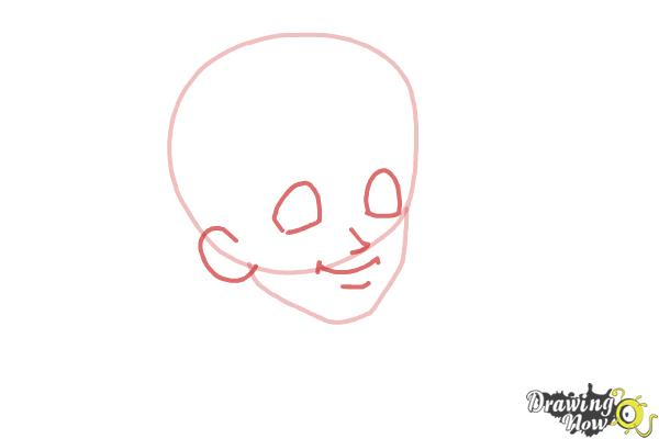 How to Draw Brandon Roberts from Dork Diaries - Step 2