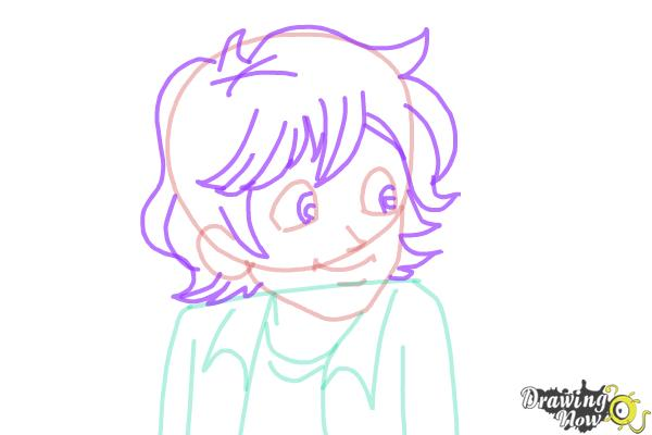 How to Draw Brandon Roberts from Dork Diaries - Step 4