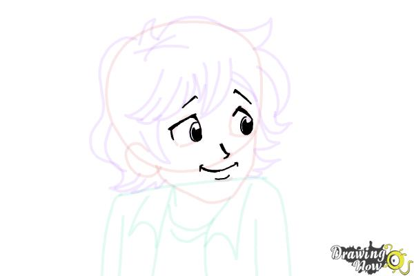 How to Draw Brandon Roberts from Dork Diaries - Step 5