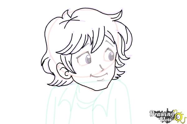 How to Draw Brandon Roberts from Dork Diaries - Step 6