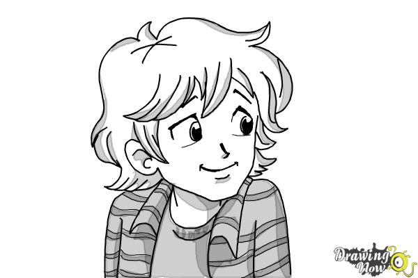 How to Draw Brandon Roberts from Dork Diaries - Step 9