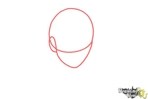 How to draw Shiro from Deadman Wonderland - Step 1