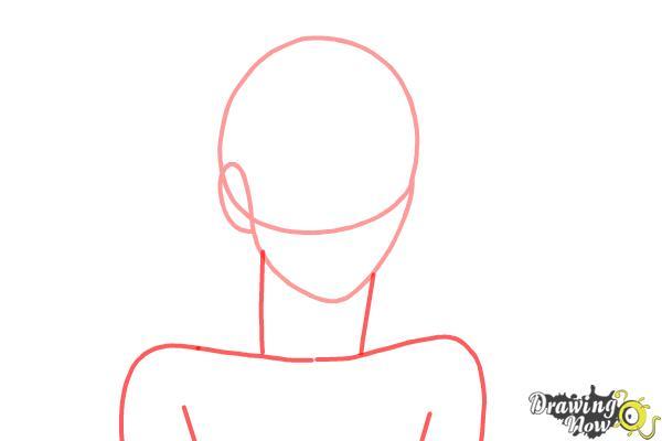 How to draw Shiro from Deadman Wonderland - Step 2