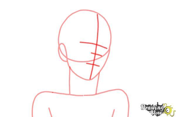 How to draw Shiro from Deadman Wonderland - Step 3