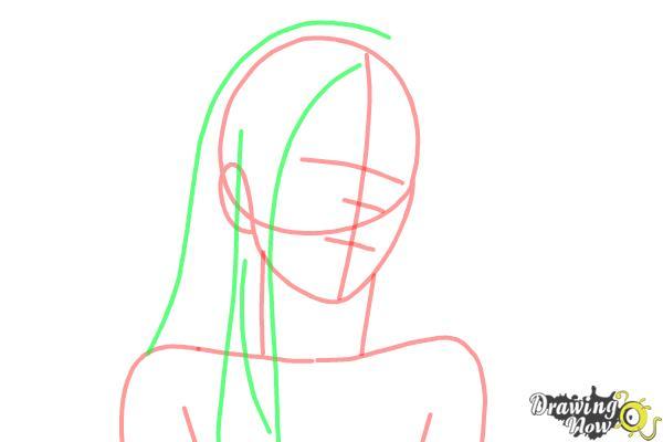How to draw Shiro from Deadman Wonderland - Step 4