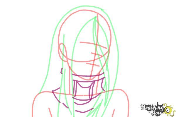 How to draw Shiro from Deadman Wonderland - Step 6