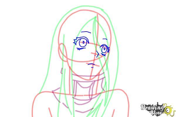 How to draw Shiro from Deadman Wonderland - Step 7