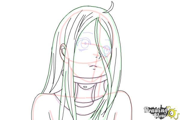 How to draw Shiro from Deadman Wonderland - Step 8