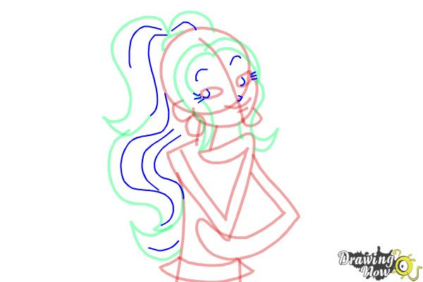 How to Draw MacKenzie Hollister from Dork Diaries - Step 6