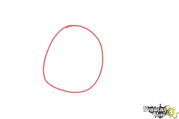 How to Draw Odus from Candy Crush - Step 1