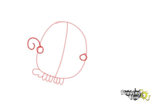 How to Draw Odus from Candy Crush - Step 4