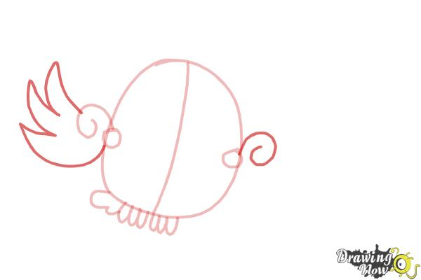 How to Draw Odus from Candy Crush - Step 5