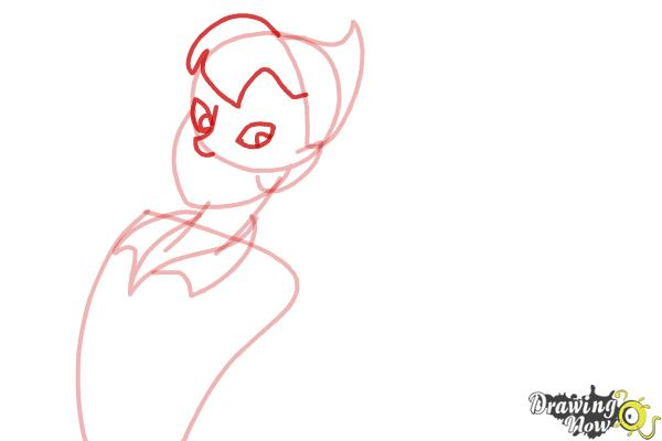 How to Draw Peter Pan And Tinkerbell - Step 4