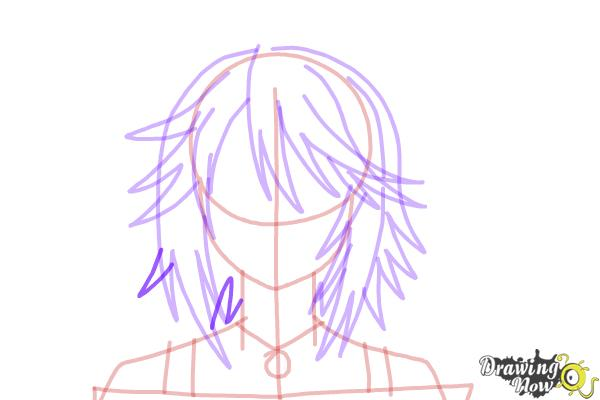 How to Draw Mizore Shirayuki from Rosario + Vampire - Step 10