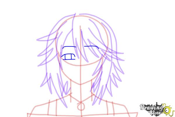How to Draw Mizore Shirayuki from Rosario + Vampire - Step 11