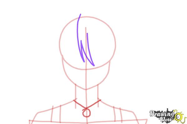 How to Draw Mizore Shirayuki from Rosario + Vampire - Step 5
