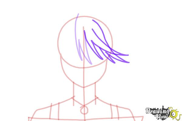 How to Draw Mizore Shirayuki from Rosario + Vampire - Step 6