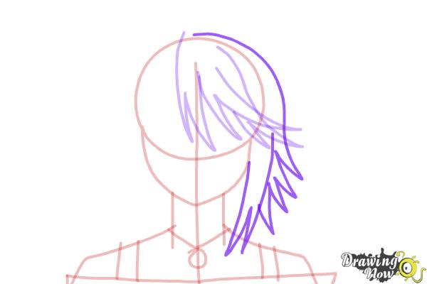 How to Draw Mizore Shirayuki from Rosario + Vampire - Step 7