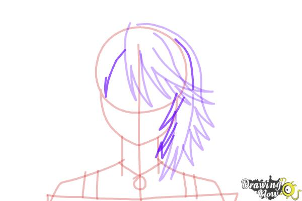 How to Draw Mizore Shirayuki from Rosario + Vampire - Step 8