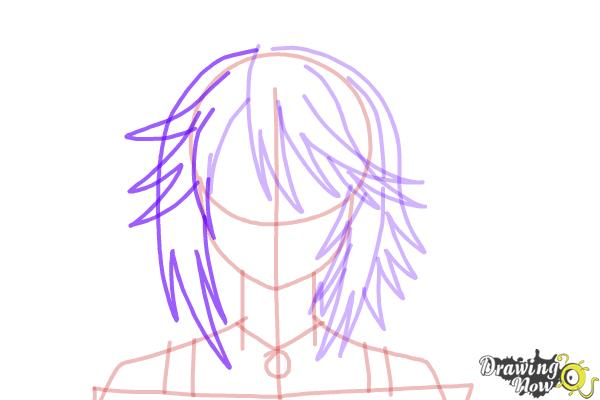 How to Draw Mizore Shirayuki from Rosario + Vampire - Step 9