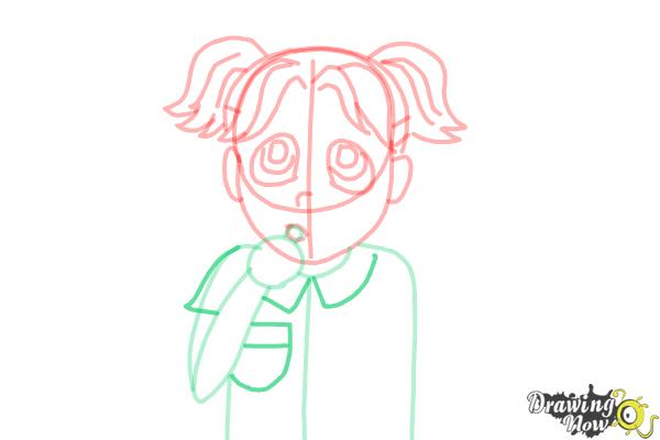 How to Draw Brianna Maxwell from Dork Diaries - Step 10