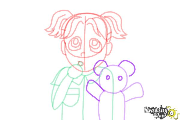 How to Draw Brianna Maxwell from Dork Diaries - Step 12
