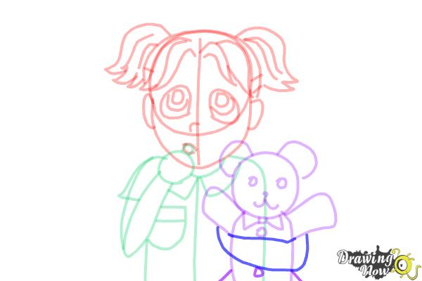How to Draw Brianna Maxwell from Dork Diaries - Step 14