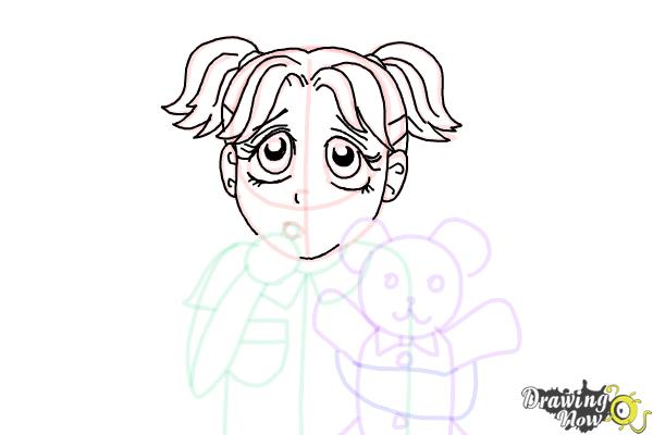 How to Draw Brianna Maxwell from Dork Diaries - Step 15