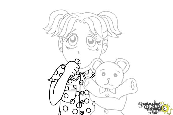 How to Draw Brianna Maxwell from Dork Diaries - Step 17