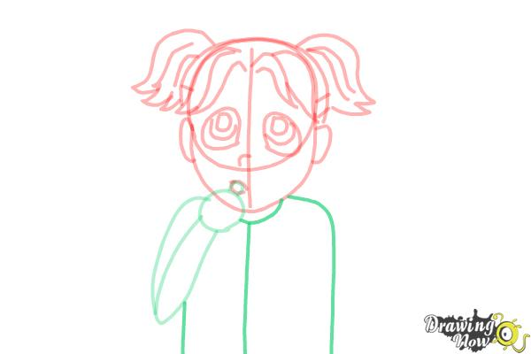How to Draw Brianna Maxwell from Dork Diaries - Step 9